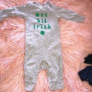 St Patrick's day onesie - 9m